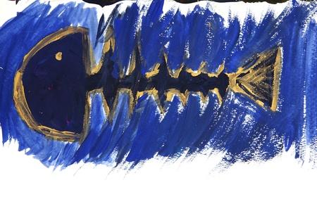 Fish on watercolour Stock Photo - 10568639