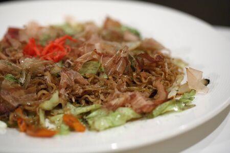 yakisoba: Japanese food Fired noodle yakisoba Stock Photo