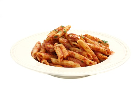 Pasta macaroni isolated in white background photo