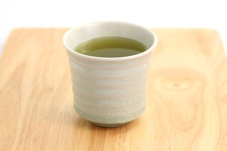 japanese green tea isolated in white background photo