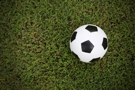 football on grass background Stock Photo - 10747088
