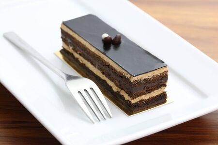 chocolate cake on wood background Stock Photo - 10786204
