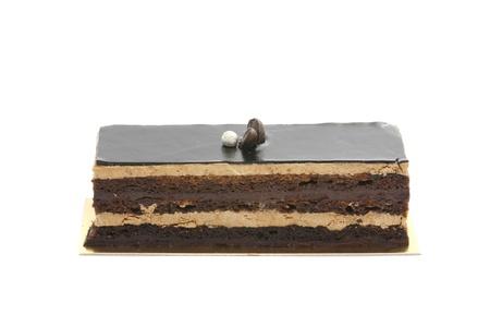 chocolaty: chocolate cake isolated in white background