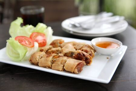 Spring Roll also known as Egg Roll  photo