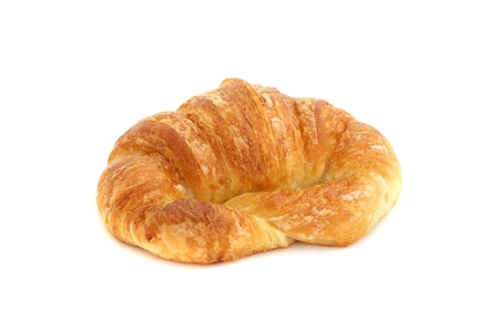 croissant isolated in white background photo