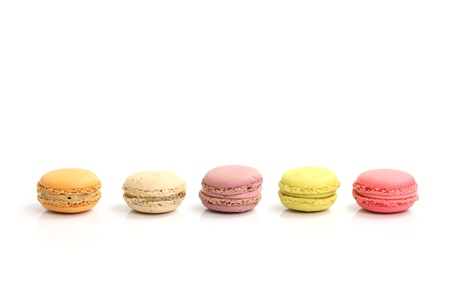 Macaron isolated in white background Stock Photo