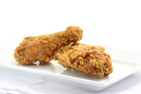 Fried Chicken isolated in white background photo