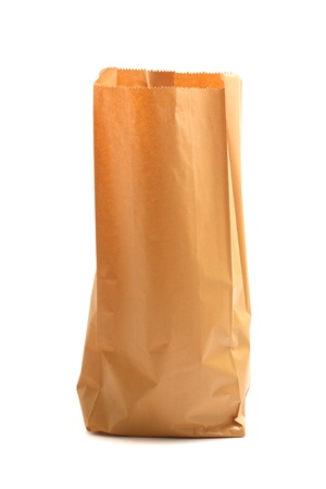 Paper bag isolated in white background photo