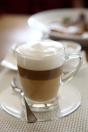 coffee on wood background photo