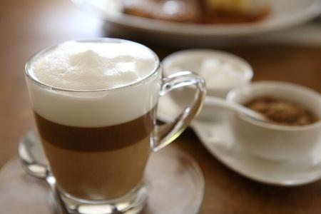coffee on wood background Reklamní fotografie