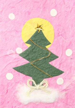 Christmas tree by paper craft photo