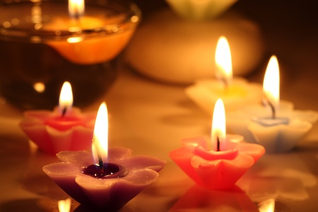 flower candles Stock Photo - 11300882