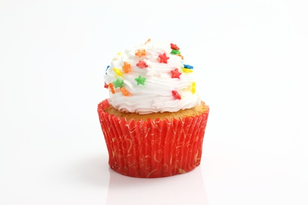 cupcake isolated in white background photo