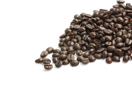 Coffee beans isolated in white background photo