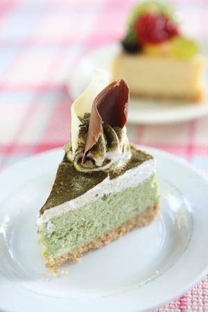green tea cake Stock Photo - 12174044