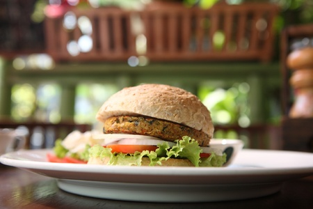 veggie burger photo