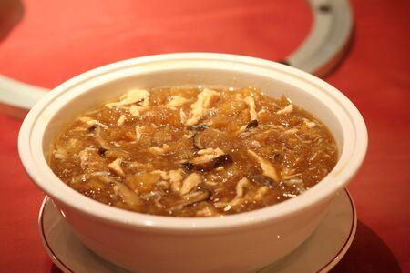 Fish maw soup photo