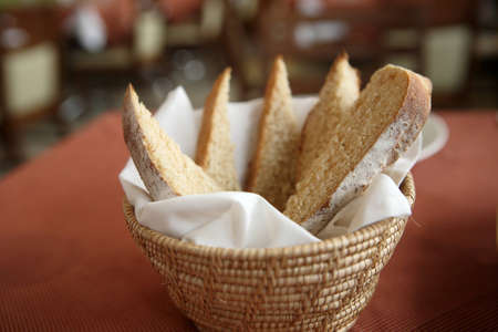 Bread in basket photo
