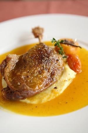 Duck confit , Roasted duck leg