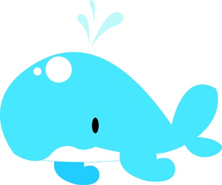 cute whale Stock Vector - 12913588