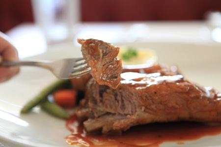 BBQ ribs  Reklamní fotografie