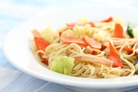 Stir fried noodles Chinese food  photo