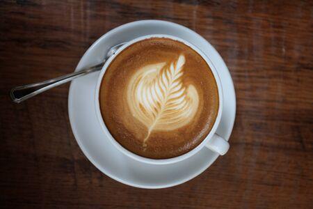 coffee on wood background Stock Photo - 13628139
