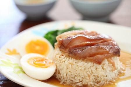stewed: stewed pork leg on rice