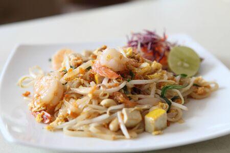 quick snack: Thai food padthai  Stock Photo