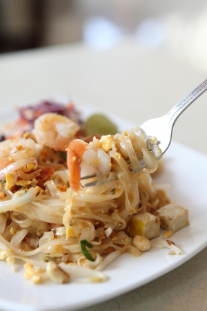 Thai food padthai  Stock Photo