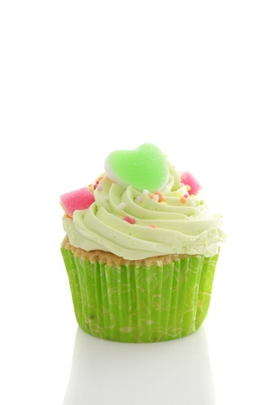green cupcake Stock Photo - 14069149