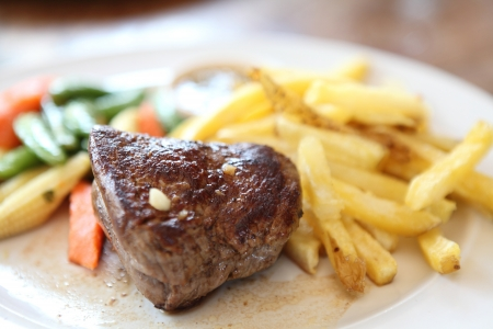 Filet mignon beef steak photo