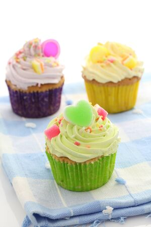 colorful cupcakes  photo