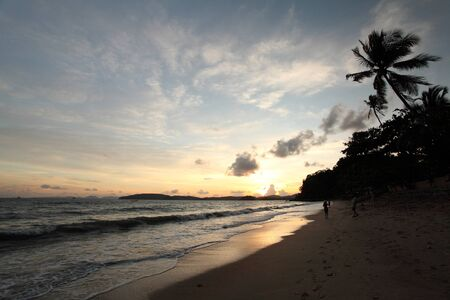 Tropical sunset on the beach  Krabi  Thailand  photo