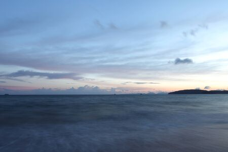 Tropical sunset on the beach  Krabi  Thailand  Stock Photo - 14366101