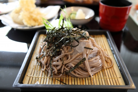 buckwheat noodle: Soba noodle with fried shrimp