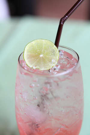 Cherry italian soda  photo