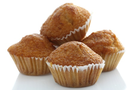 Banana cupcake isolated in white background Stock Photo - 14668671