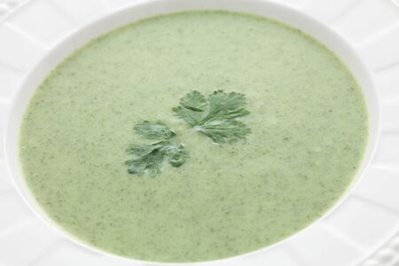 green vegetables soup photo