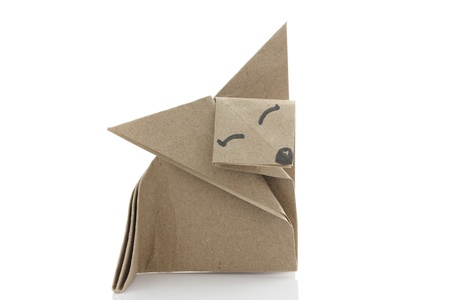 papercraft: Origami fox by recycle papercraft