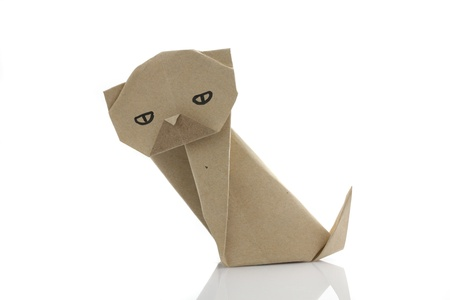 Origami dog by recycle papercraft photo