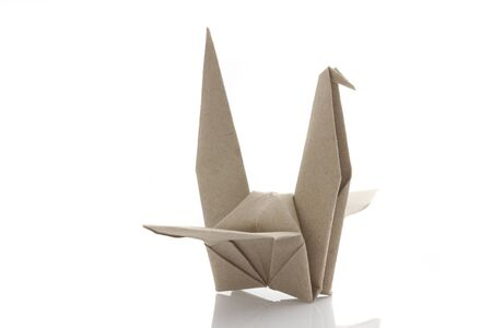 Origami bird by recycle papercraft Stock Photo - 14804038