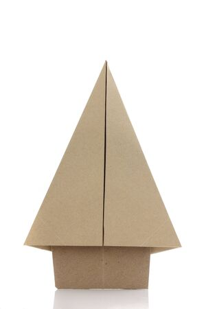 papercraft: Origami tree by recycle papercraft Stock Photo