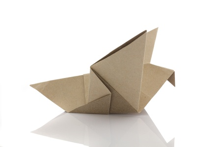 Origami bird by recycle papercraft photo
