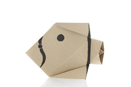 Origami fish by recycle papercraft photo