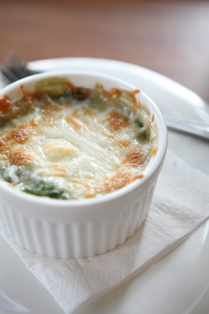 Baked Spinach with Cheese photo