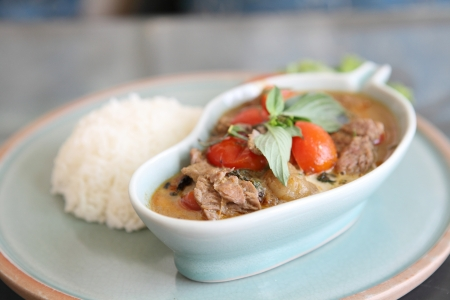 savory curry with beef photo