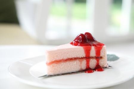 custard slice: Strawberry Cake Stock Photo