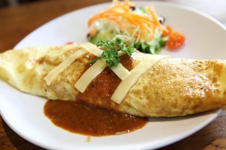 omelette rice,omurice, japanese food