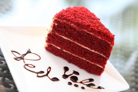 tortas de cumpleaños: rojo terciopelo